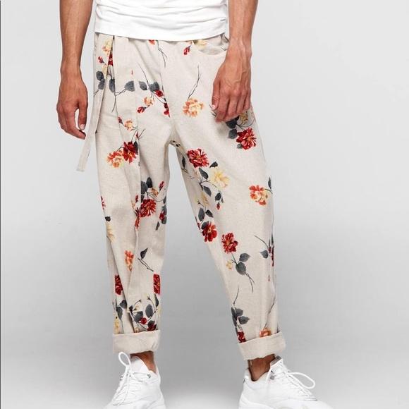 "ORTTU Other - ORTTU ""Bali""floral linen pants"